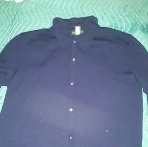 BANANA REPUBLIC  blue button down L dress shirt